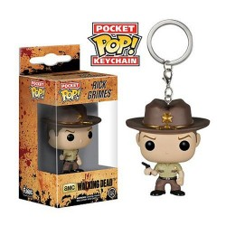 The Walking Dead POP! Vinyl porte-clés Rick Grimes 4 cm
