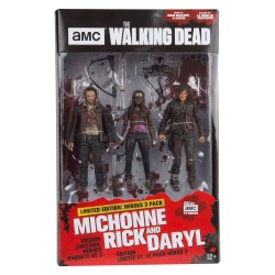The Walking Dead TV Version pack 3 figurines Heroes 13 cm