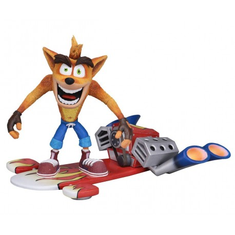Crash Bandicoot figurine Deluxe Hoverboard Crash Bandicoot 14 cm