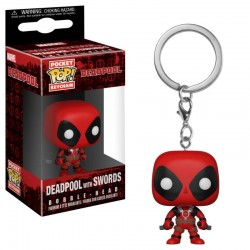 Deadpool Playtime porte-clés Pocket POP! Vinyl Deadpool with Swords 4 cm