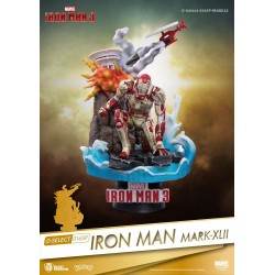 Iron Man 3 diorama PVC D-Select Iron Man Mark XLII 15 cm
