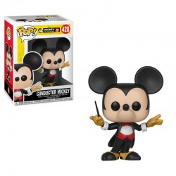 Mickey Maus 90th Anniversary Figurine POP! Disney Vinyl Conductor Mickey 9 cm