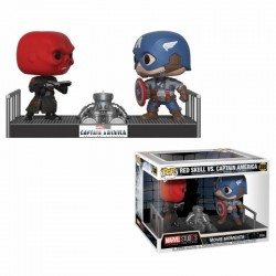 Marvel pack 2 POP! Movie Moments Vinyl Bobble Head Captain America & Red Skull 9 cm