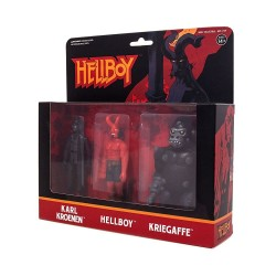 Hellboy ReAction pack 3 figurines Pack A Hellboy w/horns, Karl Kroenen, Kriegaffe Ape 10 cm