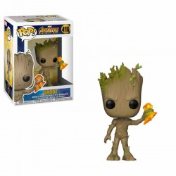 Avengers Infinity War POP! Movies Vinyl figurine Groot with Stormbreaker 9 cm