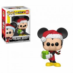 Mickey Maus 90th Anniversary Figurine POP! Disney Vinyl Holiday Mickey 9 cm