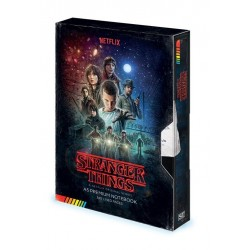 Stranger Things carnet de notes Premium A5 VHS