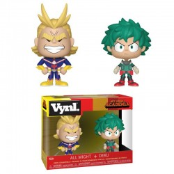 My Hero Academia pack 2 VYNL Vinyl figurines All Might & Deku 10 cm