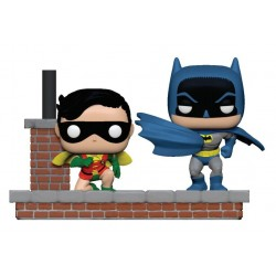Batman 80th pack 2 POP Moment! Vinyl figurines Look Batman & Robin (1964) 9 cm