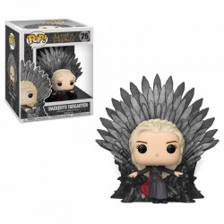 Le Trône de Fer POP! Deluxe Vinyl figurine Daenerys on Iron Throne 15 cm