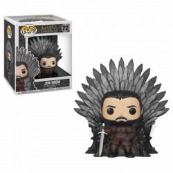 Le Trône de Fer POP! Deluxe Vinyl figurine Jon Snow on Iron Throne 15 cm