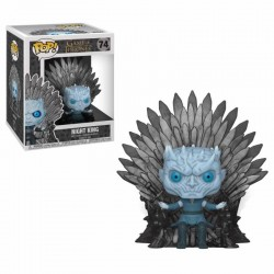 Le Trône de Fer POP! Deluxe Vinyl figurine Night King on Iron Throne 15 cm