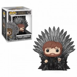 Le Trône de Fer POP! Deluxe Vinyl figurine Tyrion Sitting on Iron Throne 15 cm