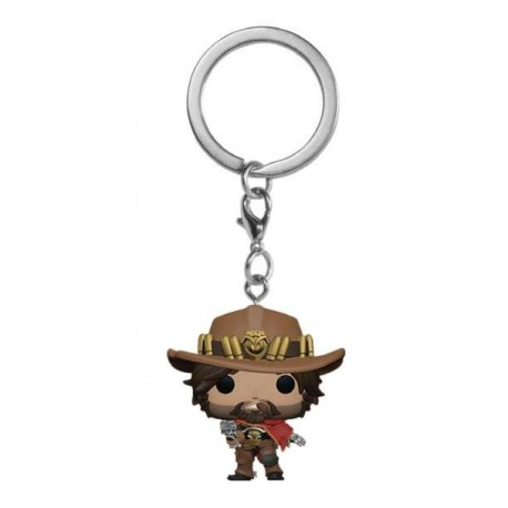 Overwatch porte-clés Pocket POP! Vinyl McCree 4 cm