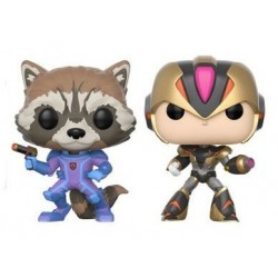 Marvel vs. Capcom Infinite POP! Games Vinyl pack 2 figurines Rocket vs. MegaMan X 9 cm