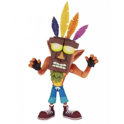Crash Bandicoot figurine Ultra Deluxe Crash with Aku Aku Mask 14 cm