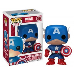 Marvel Comics POP! Vinyl Bobble Head Captain America 10 cm