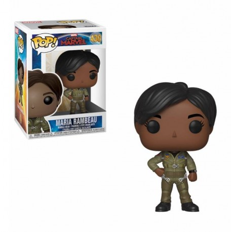 Captain Marvel Figurine POP! Marvel Vinyl Bobble Head Maria Rambeau 9 cm