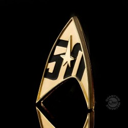 Star Trek réplique 1/1 Starfleet badge magnétique 50th Anniversary