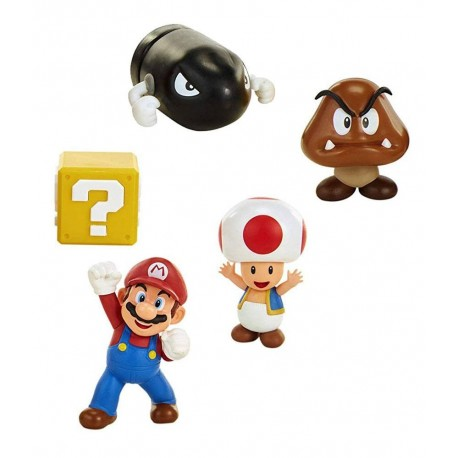 World of Nintendo pack 5 figurines New Super Mario Bros. U Acorn Plains 6 cm