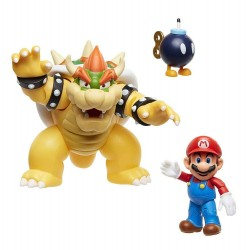 World of Nintendo pack 3 figurines Mario vs. Bowser Lava Battle 6-15 cm