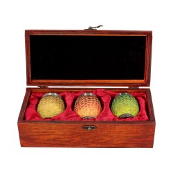 Game of Thrones pack 3 verres à liqueur Dragon Eggs