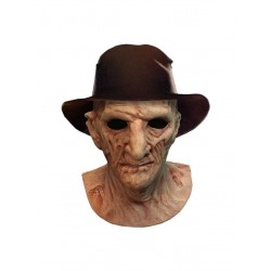 La Revanche de Freddy masque latex Deluxe avec chapeau Freddy Krueger