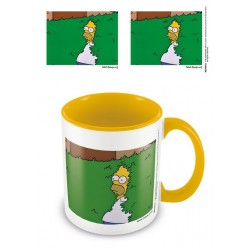 Simpsons mug Coloured Inner Homer Bush