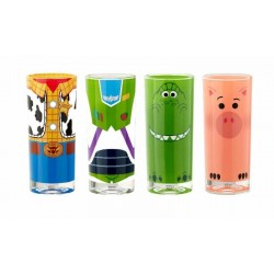 Toy Story 4 pack 4 verres Buzz, Woody, Rex & Hamm