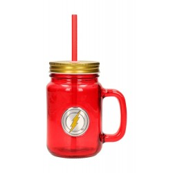 DC Comics verre Mason Jar Flash Logo
