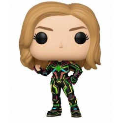 Captain Marvel Figurine POP! Marvel Vinyl Bobble Head Captain Marvel w/Neon Suit 9 cm