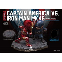 Captain America Civil War pack 2 statuettes Egg Attack Iron Man vs. Captain America 20 cm