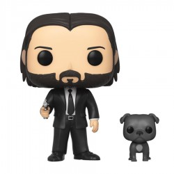John Wick POP! Movies Vinyl figurine John Wick in Black Suit with Dog 9 cm