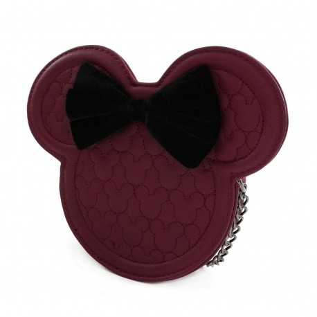 Disney by Loungefly sac à bandoulière Dark Red Mickey Mouse