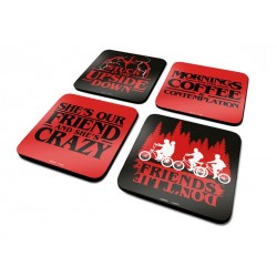 Stranger Things pack 4 sous-verres Phrases