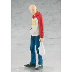 One Punch Man statuette PVC Pop Up Parade Saitama Oppai Hoodie Ver. 17 cm