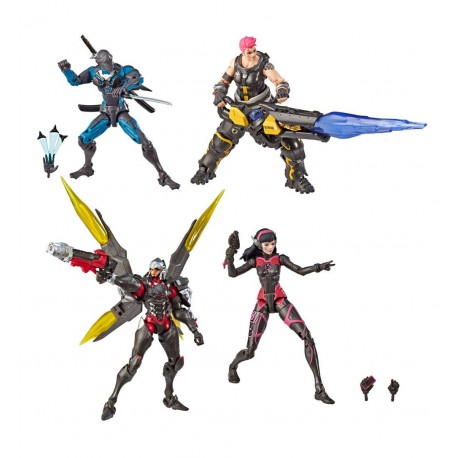 Overwatch Ultimates pack 4 figurines Carbon Fiber 15 cm