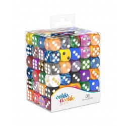 Oakie Doakie Dice dés Retail Pack D6 16 mm Mixed (120)