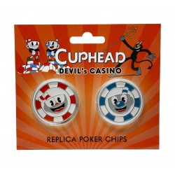 Cuphead répliques Devil's Casino Poker Chips