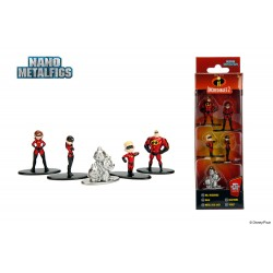 Disney pack 5 figurines Diecast Nano Metalfigs Incredibles 2 4 cm