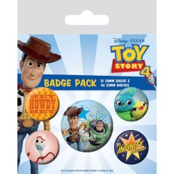 Toy Story 4 pack 5 badges Friends for Life