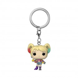 Les Anges de la nuit porte-clés Pocket POP! Vinyl Harley Quinn (Caution Tape) 4 cm