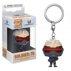 Overwatch porte-clés Pocket POP! Vinyl Soldier: 76 4 cm