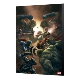 Marvel Avengers Collection tableau en bois New Avengers 43 - Aleksi Briclot 24 x 36 cm