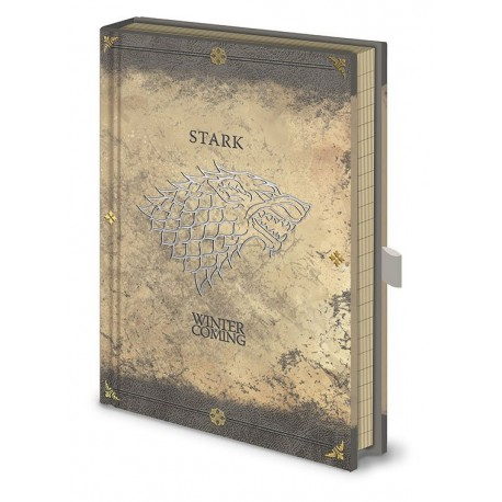 Game of Thrones carnet de notes Premium A5 Stark Worn