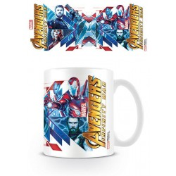 Avengers Infinity War mug Red Blue Assemble
