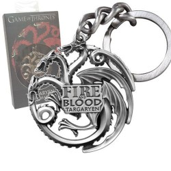Game of Thrones porte-clés métal Targaryen Sigil Gunmetal