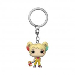 Les Anges de la nuit porte-clés Pocket POP! Vinyl Harley Quinn (Boobytrap Battle) 4 cm
