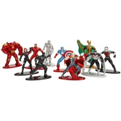 Marvel Comics pack 10 figurines Diecast Nano Metalfigs Wave 1 4 cm