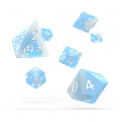 Oakie Doakie Dice dés RPG-Set Glow in the Dark - Arctic (7)